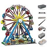 OLOK Freizeitpark Riesenrad Modell Bausatz, Mould King 11006, 3836 Teile Musik Drehbar Riesenrad mit LED-Licht Uund Motoren, Konstruktionsspielzeug Kompatibel mit Lego Creator