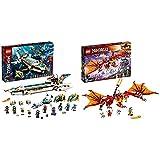 Lego 71756 Ninjago Wassersegler, U-Boot Spielzeug für Jungen und Mädchen ab 9 Jahre, Set mit 10 Ninja Mini Figuren & NJAGO Kais Feuerdrache Drachen Spielzeug ab 8 Jahre, Set mit 4 Ninja Mini Figuren