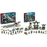 Lego 71756 Ninjago Wassersegler, U-Boot Spielzeug für Jungen und Mädchen ab 9 Jahre, Set mit 10 Ninja Mini Figuren & NJAGO Tempel des unendlichen Ozeans Unterwasser Set