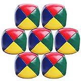 Elcoho 7er Pack Jonglierbälle Ball Jonglier Set für Anfänger Langlebig und weich Einfache Jonglierbälle für Kinder und Erwachsene (Color 1)