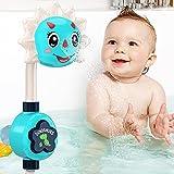 GRESAHOM Badespielzeug, Baby Badespielzeug Set für Kinder mit manuell einstellbares Cartoon Dinosaurier Duschsprinkler Sprühen, Wasserpark Badewannenspielzeug für Eltern Kind Schwimmbadspiel