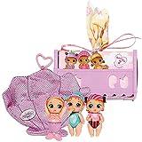 Zapf Creation 904749 BABY born - Surprise Minis Strand - kleine Mini-Puppen inkl. Kokon, Bett, Geburtszertifikat, zum Sammeln und Tauschen, Charakter nicht frei wählbar, 2 oder 3 Püppchen.