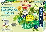 Kosmos 632083 Mein erstes Gewächshaus, Das Original, Erstes Gärtnern für Kinder ab 5 Jahre, Komplett-Set mit Samen, Erde usw. Experimentierkasten zu Garten, Pflanzen, Blumen, Biologie