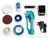 Power Akku-Putzmaschine 10-teilig elektrische Reinigungsbürste kabellos