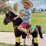 PonyCycle Official Prämie K-Serie Ritt auf Pferd Spielzeug Plüsch Lauftier dunkelbraunes Pferd für Alter 3-5 Jahre Kleine Größe K35