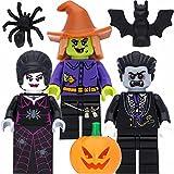 LEGO Minifiguren-Set mit 3 Halloween Figuren (Vampir / Dracula, verrückte Hexe, Spinnen-Lady) und Zubehör