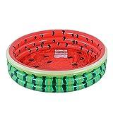 Amazon-Marke: Umi Planschbecken, Kiddie Pool, Wassermelone Hamburger Eiscreme, aufblasbarer Pool im Sommer, Pit Ball Pool von 115 cm (Wassermelone)