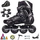 Inline-Skates für Herren, Herren-Inline-Skates mit einem kompletten Satz Schultertaschen mit Schutzausrüstung, Inline-Skates für Anfänger(Size:7 /(24CM) /38)
