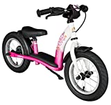 BIKESTAR Kinder Laufrad Lauflernrad Kinderrad für Mädchen ab 3 - 4 Jahre | 12 Zoll Classic Kinderlaufrad | Pink & Weiß | Risikofrei Testen