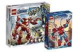 Collectix Lego Marvel - Set: Avengers 76164 Iron Man Hulkbuster vs. A.I.M.-Agent + Spiderman 76146 Spider-Man Mech