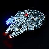 BRIKSMAX Led Beleuchtungsset für Star Wars Millennium Falcon Spielzeug, Kompatibel Mit Lego 75105 Bausteinen Modell - Ohne Lego Set