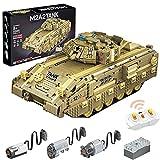 Elroy369Lion MOYU RC APP Programmierung elektrischer M2A2 Heavy Desert Panzerpanzer Ziegel Modell, Kleinteilchen Bausteine Toy Kit für Kinder Kompatibel mit Lego Technik (1.763 Teile)