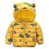 Gyratedream Kleinkind Jungen Mädchen Wintermantel Gepolsterte Jacken Mit Bärenohr Mit Kapuze Kinder Cartoon Warmes Outfit Baumwolle Gefütterter Mantel Outwear