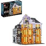 XUOO 16041 Joker Shop, 3363PCS Wizarding World Serie von Baumodellbausteinen, kostenloses Luxus-Beleuchtungsmodul, kompatibel mit Lego-Häusern