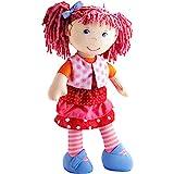 Haba 302842 - Puppe Lilli-Lou, süße Weich- und Stoffpuppe ab 18 Monaten, mit Kleidung und Haaren, 30 cm