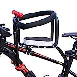 Seciie Kindersitz, Abnehmbarer Kindersitz Fahrrad-Vordersitz mit Pedal und Zaun