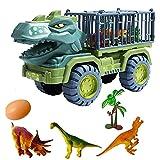 Kinder Große Dinosaurierauto, Träger Spielzeug Auto mit Dinosaurier, LKW-Bagger Transport Auto Spielzeug für Kinder Carrier Truck Fahrzeug Spielzeug Dinosaurier Spielzeug