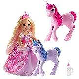 Barbie GJK17 - Dreamtopia Chelsea Spielset, Prinzessin Puppe mit zwei Baby-Einhörnern, Geschenkset, Spielzeug ab 3 Jahren