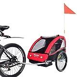 VEELAR Sport Kinderanhänger Fahrradanhänger Anhänger Kinderfahrradanhänger 50201-01 T Rot
