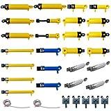 Searchyou 32 Teile Technik Pneumatisches Kit für Lego, 10 Arten Custom MOC Technic Luftpumpe Druckstange Kolben wechseln Luftleitung Einzelteile für Krane, LKW Modell