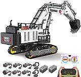 PEXL Technik Liebherr Bagger R 9150 Modell, Technic Ferngesteuert Bagger mit 7 Motoren, 4342 Klemmbausteine Kompatibel mit Lego Technik
