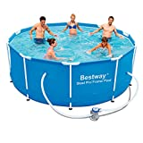 Bestway 56334GS-03 Frame Pool 'Steel Pro' Set mit Filterpumpe, 305 x 100 cm