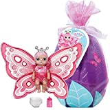 Zapf Creation 904336 BABY born Surprise Babies 5 - kleine Schmetterlingspüppchen mit Trink- und Pipi-Funktion, magischer Windel, Fläschchen und Geburtszertifikat, Charakter nicht frei wählbar, 1 Stück
