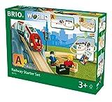 BRIO World 33773 Eisenbahn Starter Set A – Die ideale erste Holzeisenbahn mit Tunnel und Figuren – Kleinkinderspielzeug empfohlen ab 3 Jahren