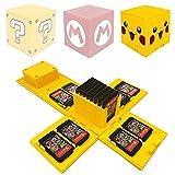 VANDA Etui kompatibel Für Nintendo Switch - Passend für bis zu 16Nintendo Switch Spiele Aufbewahrungssystem Spielkarten Organizer Reisebox Hartschalen Set mit16 Slots Inserts (Pikachu Yellow)