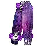 Gonex Skateboard für Kinder, 22' Mini Cruiser für Mädchen Jungen Anfänger 55cm Vintage Retro Komplettboard ABEC-7 mit PU Rollen