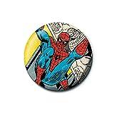 Echte Marvel Comics Spider-Man Comic Strip Taste Abzeichen Stift Retro