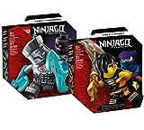 Collectix Lego Set - Ninjago Legacy Battle Set: Cole vs. Geisterkämpfer 71733 + Ninjago Legacy Battle Set: Zane vs. Nindroid 71731