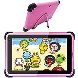 Kinder Tablet 7 Zoll Android 10 Tablet Kinder Lerntablett Android WiFi Tablet für Kinder Kleinkinder für die Heimschule Elternsteuerung Pädagogisches Tablet mit kindersicherer Hülle (Pink)
