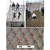 Klettern Netz Gemacht Aus Hanf Seil,Bringt Maximale Last Für Kinder Spielplatz,Natürlich Jute Material,16mm/15cm,Mehrere Größen (Size : 1x1m)