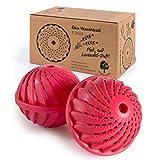 ProfessionalTree Waschball für Waschmaschine - 2 Stück – Waschkugel für Waschmaschine mit Keramikperlen - Waschen ohne Waschmittel - Pinker Eco Waschball mit Lavendel Duftstoffen