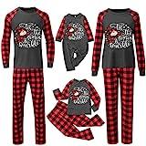 Weihnachts-Pyjama Familie Kuschelig-Weihnachten-Schlafanzug Rentier-Kariert-Hausanzug Freizeitanzug: Baby Kind Männer Frauen Weihnachten Pyjama Lässig Nachthemd Christmas Homewear
