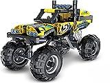 Technik Auto Extreme Crawler Geländewagen Monstertruck mit Rückzieh-Motor, Konstruktionsspielzeug mit 199 Teilen