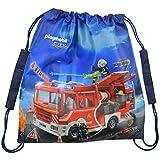 Playmobil City Action - Turnbeutel Feuerwehr 38 x 35 cm Sportbeutel Polyester