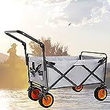HHYYP Bollerwagen Klappwagen, Tragbarer Handwagen Gartenwagen 200kg Maximale Belastung Beförderung Von Kindern Zusammenklappbarer Strandwagen Mit Bremse (Color : A)