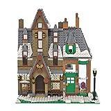 GUDA Modular House Bausets, 877 Teile + MOC-80404 Harry Potter Serie Hogsmeade Village Modell Straßenansicht Architektur Bausteine MOC Set, kompatibel mit Lego