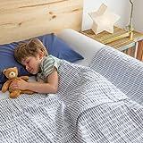 BANBALOO BAMBOO- Sicherheitsbarriere für Kinderbetten Absturzsicherung für Kinder. Rutschfestes Schaumstoffgeländer mit Bezug und Verlängerung aus weicher Bambus-Baumwolle.