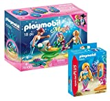 PLAYMOBIL Meerjungfrauen Set: 70100 Familie mit Muschelkinderwagen + 9355 Meerjungfrau