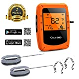 CamGo Funk Grillthermometer, Bluetooth Barbecue Thermometer, Digitales Wireless Bratenthermometer...
