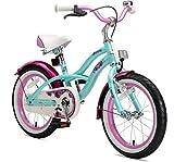 BIKESTAR Kinderfahrrad für Mädchen ab 4-5 Jahre   16 Zoll Kinderrad Cruiser   Fahrrad für Kinder Mint   Risikofrei Testen