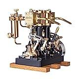SESAY LS2-14 Dampfmaschine Modell, Retro Dual Zylinder Engine Kit, Steam Motor für 80cm+ Dampfschiff (ohne Kessel), Fertiges Modell