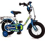Unbekannt Kinderfahrrad 12 Zoll mit Stützräder und Rücktrittbremse Jungen Mädchen Fahrrad für Kinder ab 3 Jahren Polizei