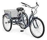 Schwinn 24cm mit Meridian Erwachsenen Dreirad, S4025, Slate Blue, 24 inches, Slate Blue