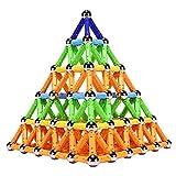 Veatree Magnetische Bausteine Pädagogische Bauklötze Set, 308 PCS Magnetische BAU Spielzeug Blöcke Lernspielzeug für Kinder, Ungiftiges Spielzeug 3D-Puzzle mit Aufbewahrungstasche