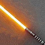 Star Wars Leuchtendes Klangspielzeug Lichtschwert, sehr geeignet für Kinder und Erwachsene, Rollenspielspielzeug, unterstützt echte schwere Duelle, gelbes Licht (gelbes Licht)