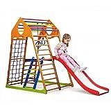 Kinder Aktivitätsspielzeug'Kindwood-Plus-2' Kletterturm mit Rutsche Spielcenter Spielplatz